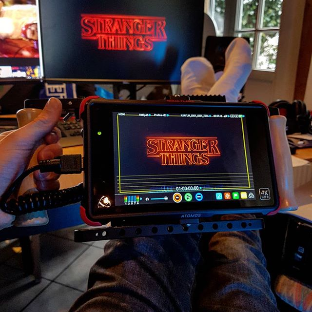 Testing my new wireless director's monitor  finally a mobile device to watch Netflix on.