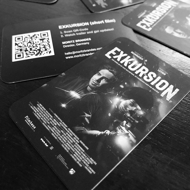Quick tip for filmmakers:  1. Generate QR-Code with a link to your film website / trailer 2. Print your film poster and QR-Code on a business card. 3. You're welcome 🙂 I just did that for my latest short film and I love the idea that I can actually give something to people when I talk about my work. And even if they don't watch it right away, they will be reminded when they find that card in their pockets. Share this idea if you like it ️